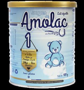 AMOLAC 1: Giàu Oméga 3 và 6, DHA, FOS, Choline, tốt cho sự phát triển của trẻ nhỏ